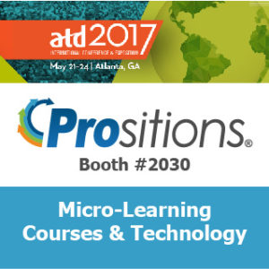 ATD 2017 - Prositions booth #2030